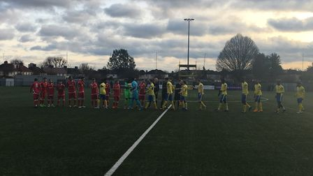 Haringey Borough drew 2-2 at home to Merstham FC and finished 2018 at the top of the Bostik Premier