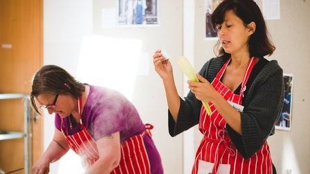 Alicia Weston leads a cooking class with her non-profit organisation Bags of Taste. Picture: Mehul D