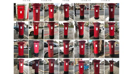 A collage of the post boxes. Picture: Amir Dotan
