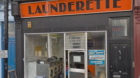 The 47 England's Lane launderette, where a brawl broke out over a comfy seat. Picture: Google