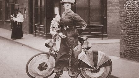 A Lowestoft Fishing Village resident dressed as a May Day Gritster in the 1920s. Picture: Courtesy o