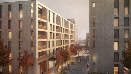 An artist's impression of the proposed block in Hackney Wick
