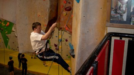 Harry Coughlan during his charity climbing challenge. Picture: Magic Life UK