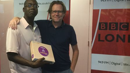 Patrick Vernon with Robert Elms from BBC Radio London