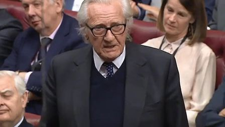 Lord Heseltine in the House of Lords. Photograph: Parliament Live TV.