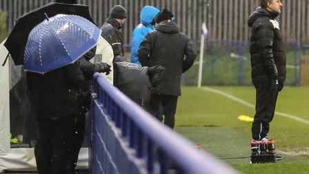 Glen Little looks on from the touchline at Wingate & Finchley (pic: Martin Addison).