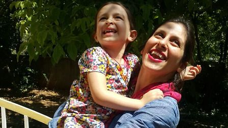 Nazanin Zaghari-Ratcliffe reunited with daughter Gabriella. Picture: Free Nazanin Campaign
