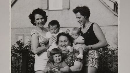 Ruth Barnett with her mum and sister-in-law after the war. Picture: Jewish Museum Camden