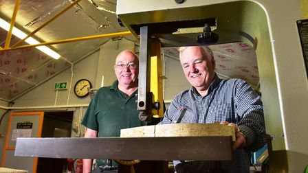David Cooper and Ray Glanfield from Lowestoft Mens shed group. Picture: Nick Butcher