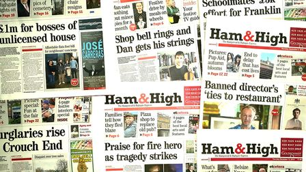 Some of the Ham&High's front pages from 2018.