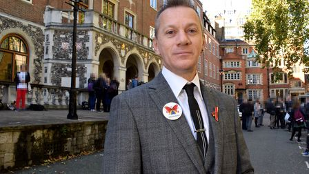 Mark Ward outside of Church House, Westminster ahead of the preliminary hearings of the Infected Blo