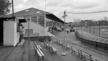Hackney Wick Dog Stadium. Picture: Berris Conolly from his book Hackney Photographs 1985-1987
