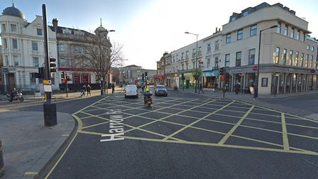 The junction between the Great Western Road and Harrow Road, where the fight took place on Wednesday
