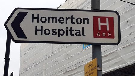 Homerton Hospital sign. Picture: Ken Mears