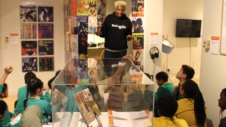 Donna Powell leads a workshop at Hackney Museum. Picture: Hackney Council