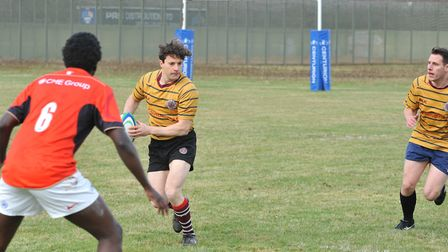 Action from a previous meeting between UCS Old Boys' second XV and a team from HMP Feltham Young Off