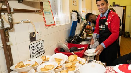 Storehouse volunteer, Dilojan, behind the scenes. Picture: Siorna Ashby