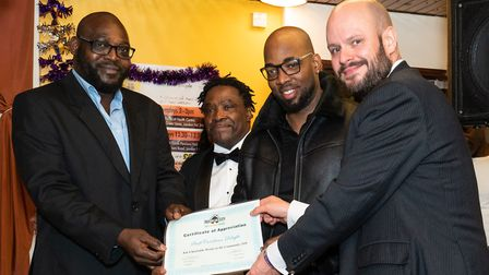 Owners of Swift Caribbean Delight with Phil Glanville and Errol Francis. Picture: Siorna Ashby