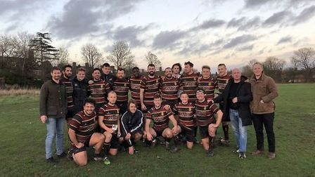Hampstead rugby team pose for the camera (Pic: Jon Boyle)