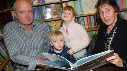 Authors John Burningham and Helen Oxenbury promote their new book There's Going To Be a Baby with a
