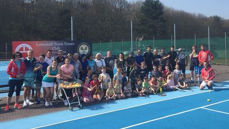 A new coaching scheme was launched at Lowestoft Town Tennis Club. Picture: Courtesy of Lowestoft Tow