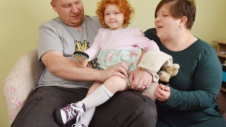 Sapphire-Elysia Jasmine Saunders,3, has started walking after being donated a pair of specialist sho