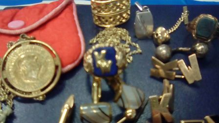 Jewellery found in Womersley Road in Crouch End after a burglary. Police are trying to trace its own