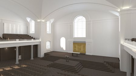 An artist's impression of the view from the mezzanine. Picture: John Pawson Ltd