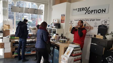 The Zero Option is open on Hackney Road until the end of February.
