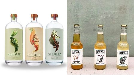 Sample drinks available at The Zero Option include Real Kombucha and Seedlip