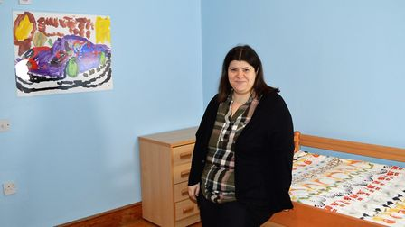 Clare Politzer in the refurbished children's bedroom. Picture: Norwood