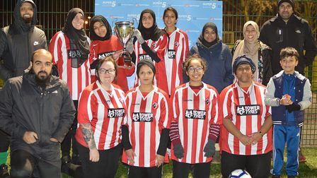 MSA & Frenford won the Beginners Super5League Cup (pic: Hackney Super5League)
