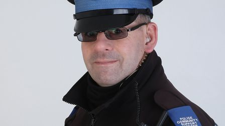 Mike Soanes, the PCSO part funded by Lowestoft Vision and dedicated to the BID area. Picture: Pictur