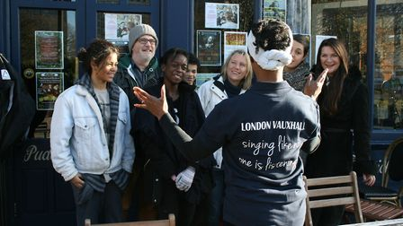 Talibah Rivers launches the Hackney version of Tuneless Choir after the success of her Vauxhall grou