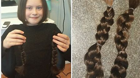 Kyra's hair will be made into a wig for a girl or boy who has been affected by hair loss as a result
