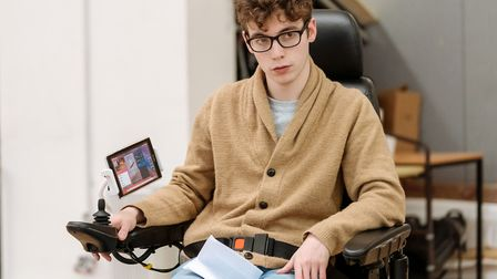 Jack Hunter as John in rehearsals for Cost of Living at Hampstead Theatre picture Manuel Harlan