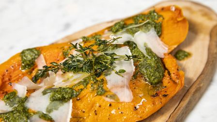 The roasted squash with parmesan and salsa verde was delicious picture by Alicia Clarke