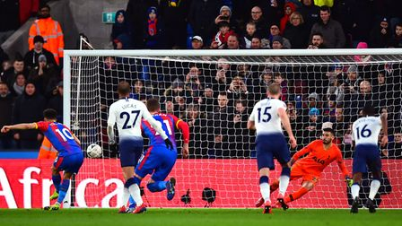Crystal Palace's Andros Townsend scores his side's second goal of the game against Tottenham Hotspur
