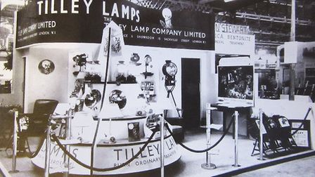 A trade stand in the 50s