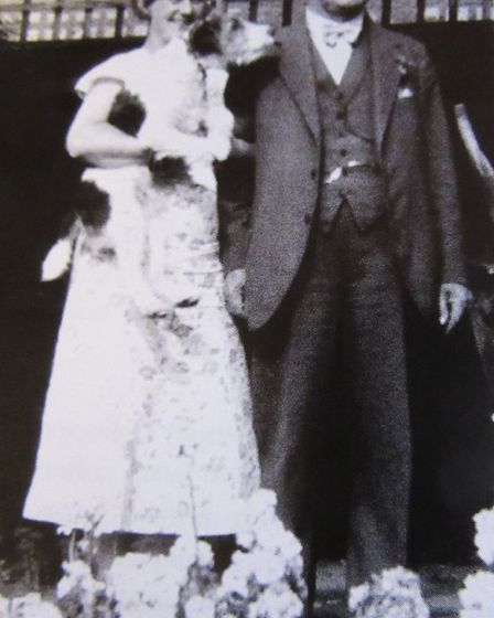 Frederick Charles Tilley with his wife Fanny.