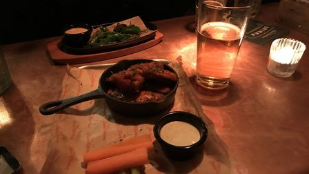 Buffalo Wings at the Blues Kitchen ahead of the Super Bowl (Pic: Jacob Ranson)