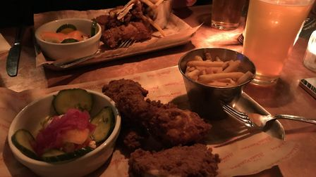 Cajun chicken at the Blues Kitchen ahead of the Super Bowl (Pic: Jacob Ranson)