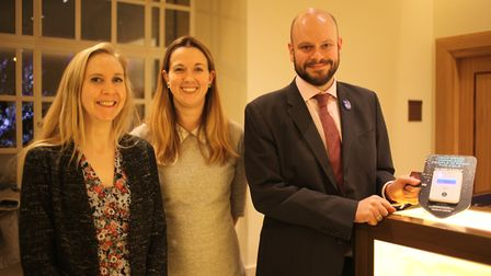 Mayor of Hackney, Philip Glanville, joined by Cllr Rebecca Rennison and Cllr Caroline Selman, unveil