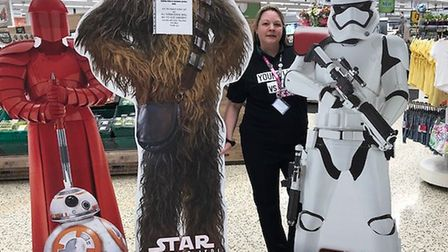 The cardboard cut-outs up for grabs at Morrisons. PICTURE: Courtesy of Morrisons