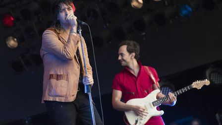 Julian Casablancas (left) and The Strokes will play All Points East 2019. Picture: Matt Crossick / P