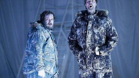 Benedict Nelson as Miles and Paul Whelan as Captain Ross in Anthropocene. Picture: James Glossop