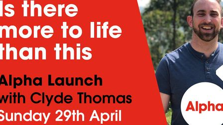 Clyde Thomas will be the guest speaker as the next Alpha course is launched at Lowestoft Community C