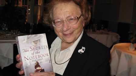 Eve Haas with her book, taken in 2009. Picture: Timothy Haas