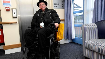 """Jake Rolfe by the lift in Rose Court which has broken down for days at a time, leaving him a """"prison"""