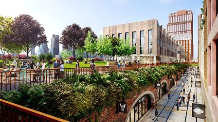 What the Bishopsgate Goodsyard development will look like. Pic: Hammerson and Ballymore